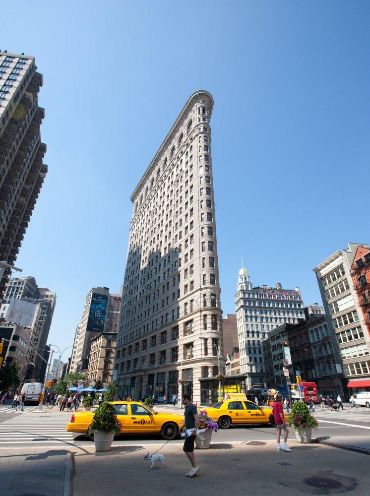 Flatiron Building En Ikon P 229 Manhattan Och Ett